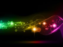Bright multicolored background. With stars and lights Stock Photo