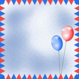 Bright multicolored background. With balloons and flags Stock Photography