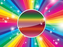 Bright multicolored background. With space for text on a shiny circle Royalty Free Stock Photo