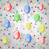 Bright multicolored background  with balloons Stock Images