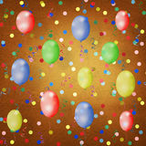 Bright multicolored background  with balloons Stock Image
