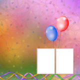 Bright multicolored background  with balloons Royalty Free Stock Photography