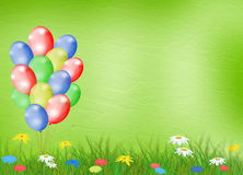 Bright multicolored background  with flowers Stock Photos
