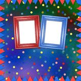 Bright multicolored background with frames, flags Stock Photo