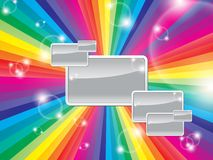 Bright multicolored background with space for text. On a shiny square Royalty Free Stock Image