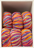 Bright Multicolored Balls of Yarn on Display Stock Images