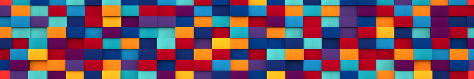 Bright Multicolored Blocks Background (Website Head) Royalty Free Stock Image