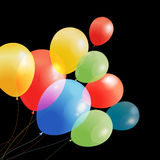 Bright multicolored holiday  balloons Stock Photo