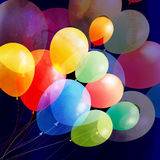 Bright multicolored holiday balloons Royalty Free Stock Image