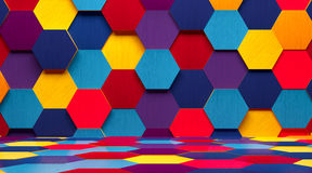 Bright Multicolored Room Background Royalty Free Stock Image
