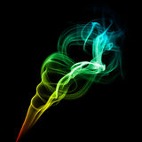 Bright multicolored smoke Stock Images