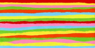 Multicolored strips of paper stock photo