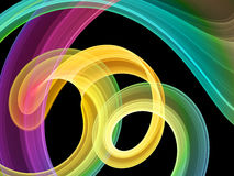 Bright multicolored swirls Royalty Free Stock Photo