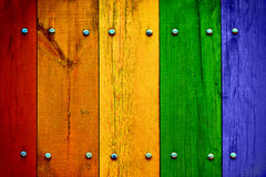 Bright Multicolored Wood Planks Royalty Free Stock Photo