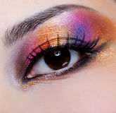 Bright multicoloured make-up Royalty Free Stock Photos