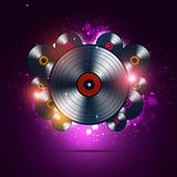 Bright Musi Background of Vinyl Records Royalty Free Stock Photos