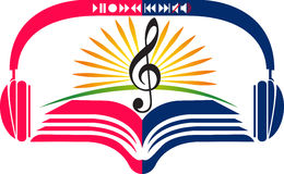 Bright music education logo Royalty Free Stock Photo