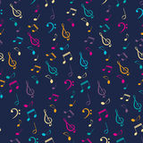 Bright Musical Seamless Pattern Stock Images
