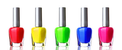 Bright nail polish Stock Image