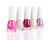 Bright nail polishes Stock Photo