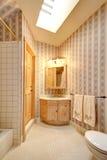 Bright narrow bathroom  interior Royalty Free Stock Image