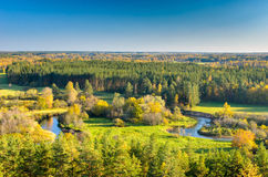 A bright natural landscape in the fall season. royalty free stock image