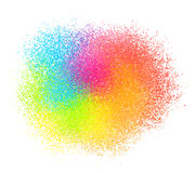 Bright neon colord paint powder vector textured cloud Royalty Free Stock Images