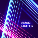 Bright neon lines background Royalty Free Stock Photo
