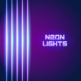 Bright neon lines background. With 80s style and chrome letters Royalty Free Stock Image