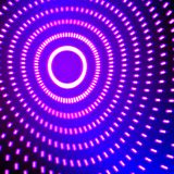 Bright shiny neon lines background with short strokes circles. Bright neon lines background with 80s style and short strokes circle Stock Photos