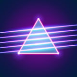 Bright neon lines background Stock Images
