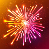 Bright neon vector firework Royalty Free Stock Photo