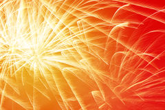 Bright New Year fireworks Royalty Free Stock Photo