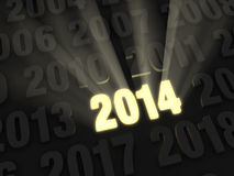 Bright New Year 2014 Royalty Free Stock Photos