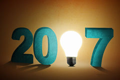 A bright new year 2017 Royalty Free Stock Photography