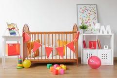 Bright newborn room interior Royalty Free Stock Image