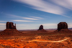 Bright Night in Monument Valley Stock Images