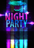 Bright night party poster Stock Image
