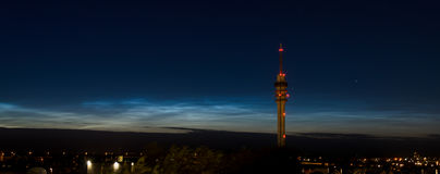 Bright Noctilucent Clouds Royalty Free Stock Photos