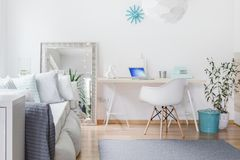 Bright nook with desk Stock Photo
