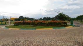 Bright noon. Beautiful garden at noon royalty free stock photos