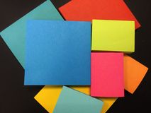 Bright Note Pads Royalty Free Stock Photos