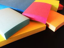 Bright Note Pads Stock Photography