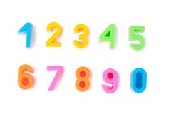 Bright numbers Royalty Free Stock Photo
