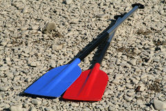 Bright oars Royalty Free Stock Photography
