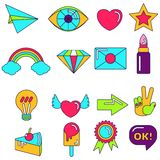 Bright object icons Royalty Free Stock Image