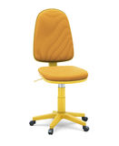 Bright office chair. On white background. 3d illustration Stock Photography