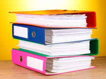 Bright office folders Stock Photography