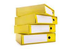 Bright office folders Royalty Free Stock Image