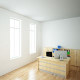 Bright Office with windows Royalty Free Stock Photos